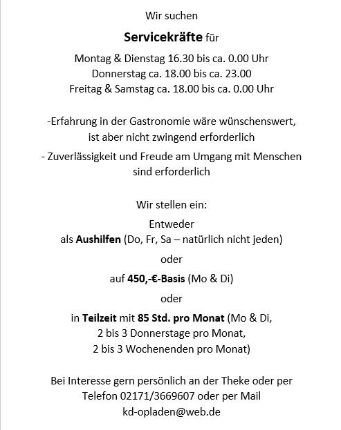 kulinarische Reise 2018 KD Leverkusen Opladen